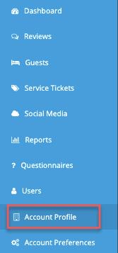menu - account profile