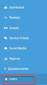 menu - users