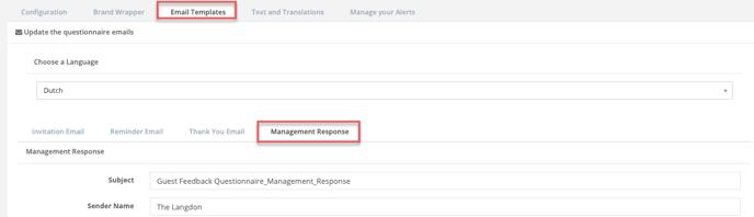 quest - email templates - management response