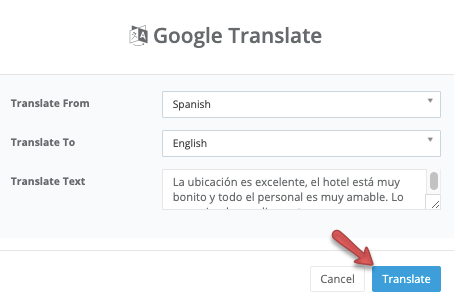 reviews - view - confirm translation