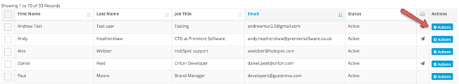 actions - view user activity log