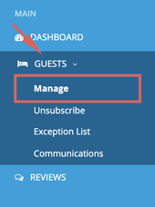 Guests - Manage