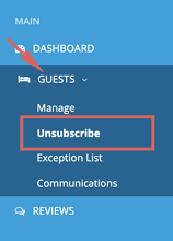 Guests - unsubscribe