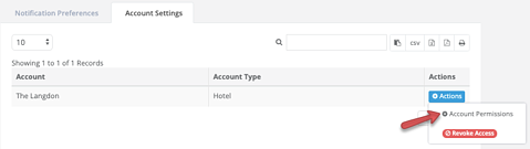 Users - Account Settings - account permissions