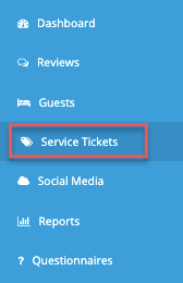 menu - service tickets
