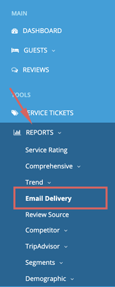 report - email delivery